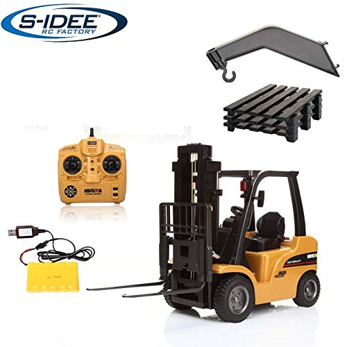 RC Auto kaufen Baufahrzeug Bild: s-idee® S1577 Rc Gabelstapler und Kran 8 Kanal 1:10 mit 2,4 GHz Huina 1577*