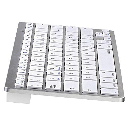 Hama KEY4ALL X510 Bluetooth-Tastatur silber / weiß