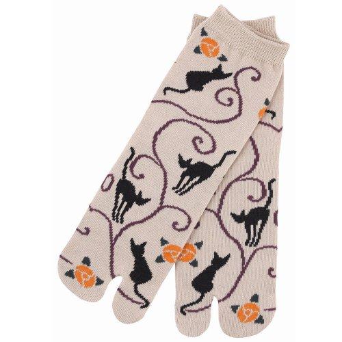 Black Cat Women 5 Inch Cuff Tabi Socks