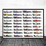 shuimanjinshan Poster und Drucke Formel 1 Rennwagen
