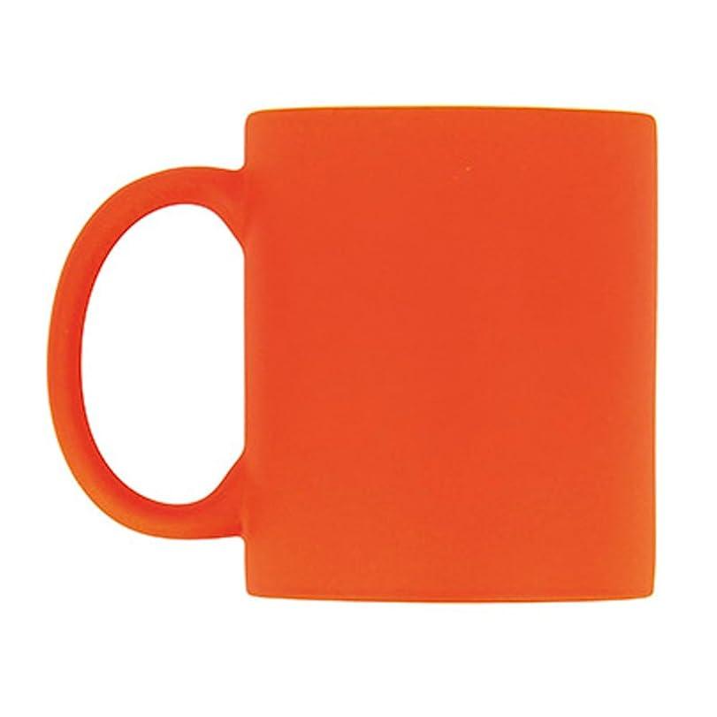 ユーモラス帆ガード(Pack of 1, Orange) - eBuyGB 310ml Bright Fluorescent/Neon Ceramic Mug for Tea & Coffee (Pack of 1 Orange)
