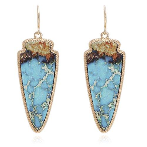 Bonaluna Women's Drop Earrings Turquoise Marble