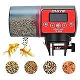 Podazz - Alimentatore automatico per pesci per acquario, a prova di umidità, per acquario, timer per acquario, dispenser per cibo per pesci