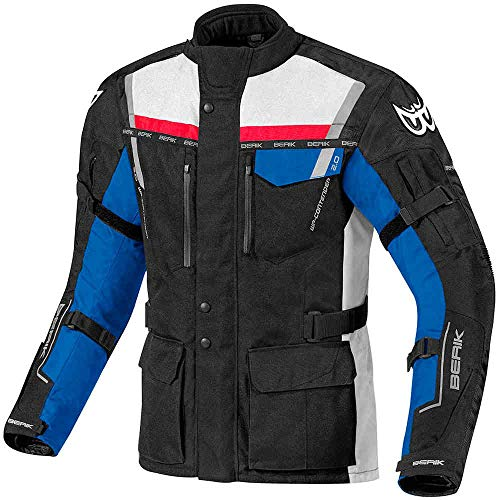 Berik Torino Wasserdichte Motorradjacke Motorrad Biker Textil gepanzert lang Tourenjacke