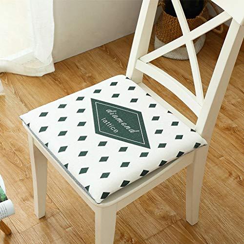 DGWMB Zitkussen, vierkant traagschuim, verdikte stoelkussen, voor in de klas, op kantoor, op wieltjes en autostoelen, antislip, duurzaam, gemakkelijk te reinigen 45x45x4cm(18x18x2inch) P
