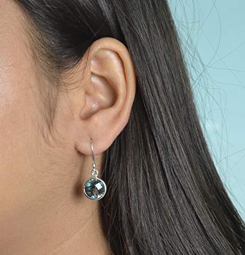 100% Farbwechsel Lab erstellt Alexandrit 925 massiv Sterling Silber Ohrringe