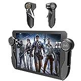 YSSSZ - Mando de juego móvil para tabletas, 6 dedos de juego de palanca de mando con botón de disparo L1R1 L2R2 Shooter Gamepad para PUBG/Peace Elite/Call of Duty