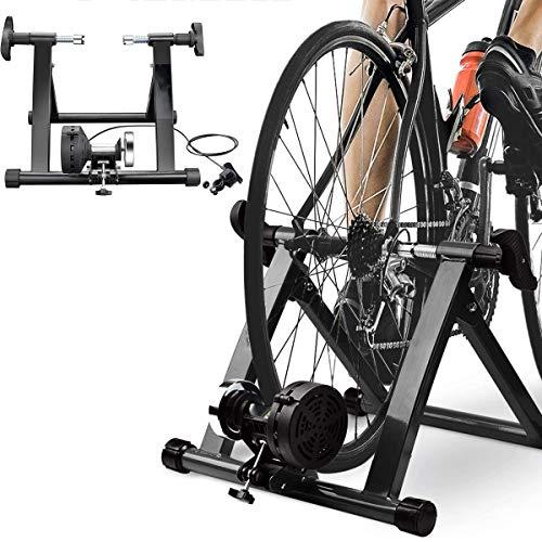 Bike Trainer Ständer, Stand Indoor Magnetic Übung Radfahren Stationäres Fahrrad Trainer Professionel Magnetisch Innen 24''-27'' Fahrrad Trainer Von Widerstand Zum Brennen Fett Und Verbessern Ihre