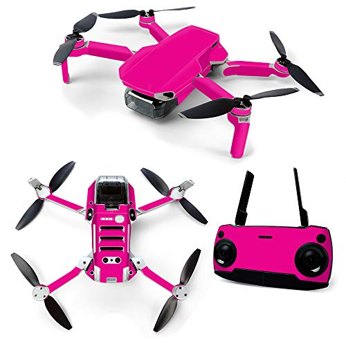 MightySkins Skin for DJI Mavic Mini Portable Drone Quadcopter - Solid Hot Pink | Protective, Durable, and Unique Vinyl Decal wrap Cover | Easy to Apply, Remove, and Change Styles | Made in The USA