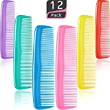 12 Pieces Colorful Hair Combs Set, Hair Combs Set, Hair Combs for Women and Men, Colorful Coarse, Fine Dressing Comb (12...