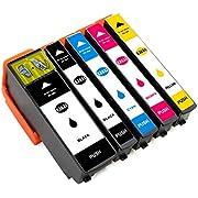 ESMOnline 5 kompatible XL Druckerpatronen (5 Farben) als Ersatz für Epson 26 (T2601/T261x und T2621/T263x) zu Epson Expression Premium XP 820 810 800 720 710 700 625 620 615 610 605 600 520 510