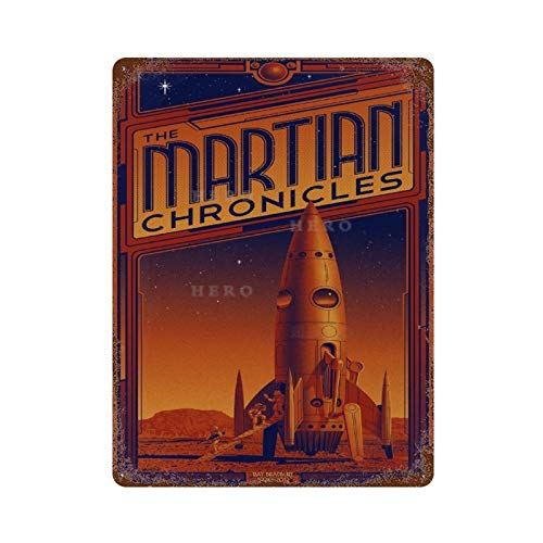 Huzkc Cool Art The Martian Chronicles' by Timothy Anderson Vintage Tin Sign Art Iron Painting Rusty Poster Decoration Aluminum plaque interesting personalit.