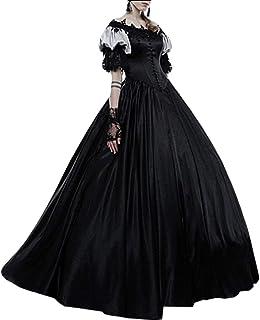 Womens Victorian Retro Gown Renaissance Costumes Medieval Irish Over Dress