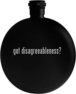 got disagreeableness? - 5oz Round Alcohol Drinking Flask, Black