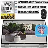 2020 Newest HP Chromebook x3602-in-1 Laptop14' FHD IPS WLED Touchscreen Intel Core i3-10110U (Beats i5-7200U) 8GB DDR4 64GB eMMC FP BacklitKB B&O Chrome OS + iCarp Wireless Mouse
