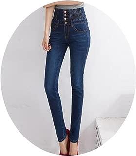CARMELA HILL WILLIAMS Women High Waist Jeans Vintage Mom Style Pencil Jeans Cowboy Denim Pants