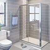 1000 x 700 mm Sliding <span class='highlight'>Shower</span> Enclosure Cubicle with Tray and Waste   Side Panel