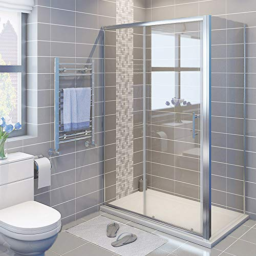 ELEGANT 1000 x 700 mm Sliding Shower Enclosure Cubicle with Tray and Waste...