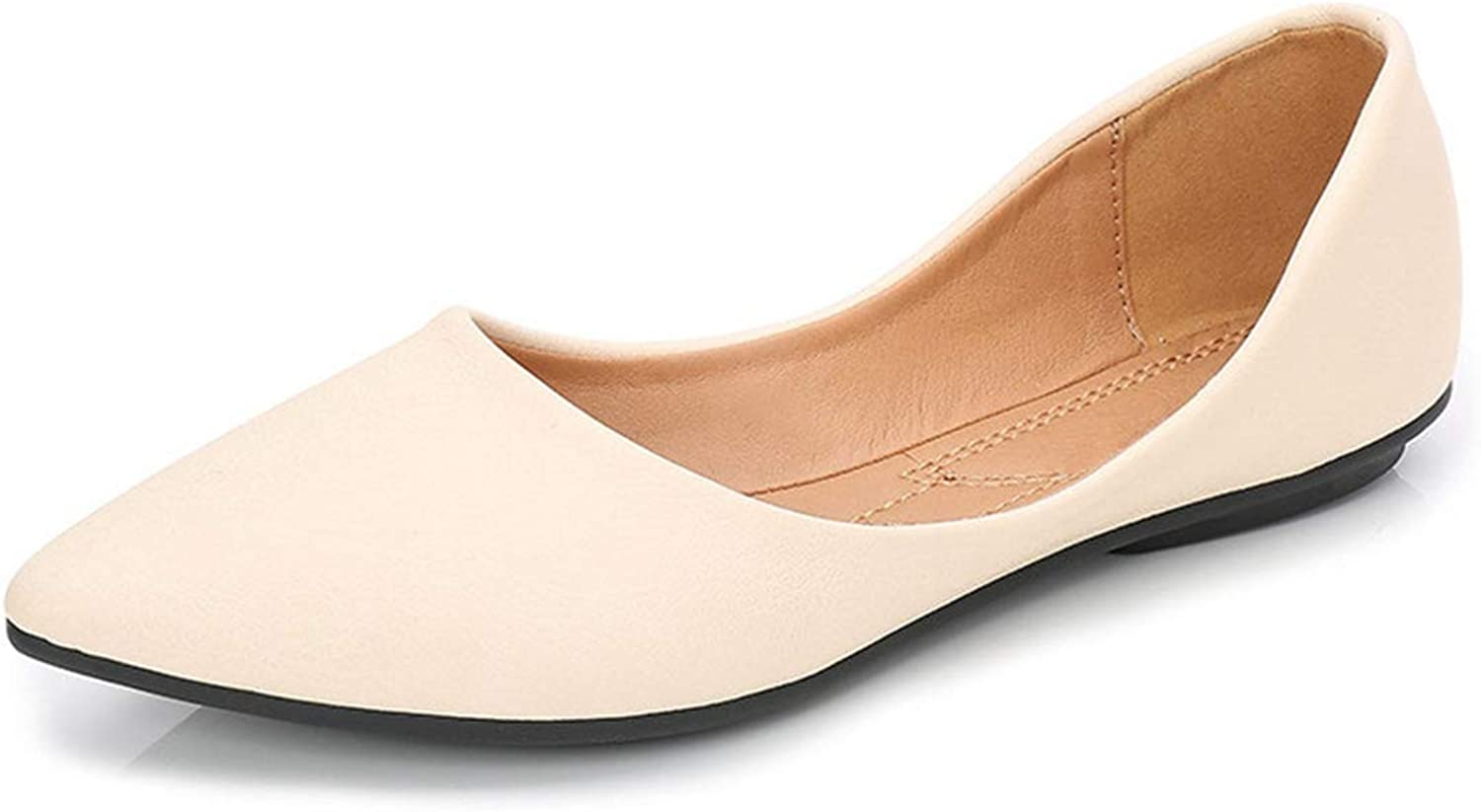 Women Flats, Casual Pointed Toe Slip On Work Office shoes for Ladies