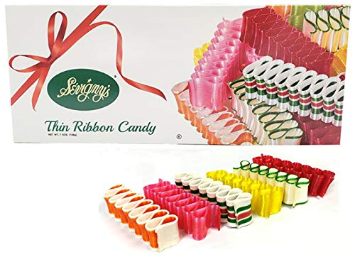 Sevigny's Thin Ribbon Candy Old-Fashioned Christmas Classic Candy - Made in USA. 7 Oz. Box | 6 Flavors Variety Pack (1) (1)