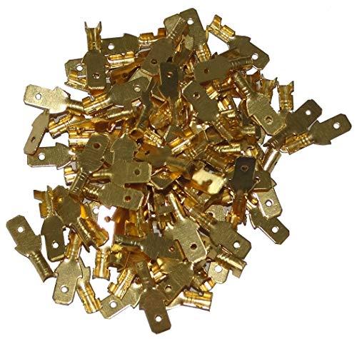 AERZETIX: 100 X Kabelschuhe männlich flach, 4,7 mm 0,3 – 1 mm2 C41297
