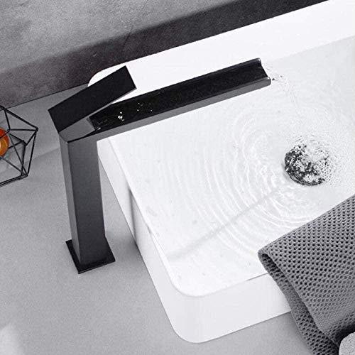 Grifo para lavabo Grifo para lavabo de baño negro mate Grifo para lavabo de cascada fría y caliente Grifo para lavabo Grifo para lavabo Mezclador de agua Grifo de agua