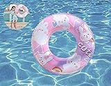 NW GazyyShop--flotadores Piscina,Flotador,Flotador Piscina,Flotador Hinchable con Patrón de Dibujos Animados Lindo-Rosa