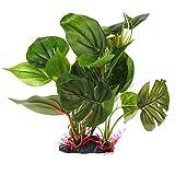 LIUZHI Plantas artificiales de acuario, planta acuática de hojas grandes, decoración de acuario de simulación
