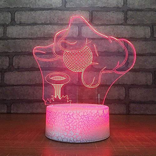Nachtkastje slaapverlichting Mani Put Golf Ball model 7 kleurrijke 3D LED planken kinderen tafellamp mod tafellamp