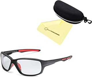ECANOE スポーツサングラス 変色調光 UV 紫外線カット 偏光レンズ 超軽量 メンズ レディース兼用