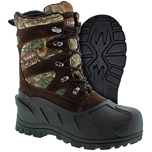 Itasca Boys Ketchikan Camo Hunting Boots Size: 5 Brown