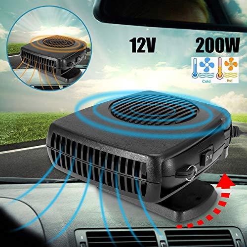 Tragbare 12V 200W Auto Windschutzscheibe Demister Defroster 2 in 1 Heizung & Kühlerlüfter