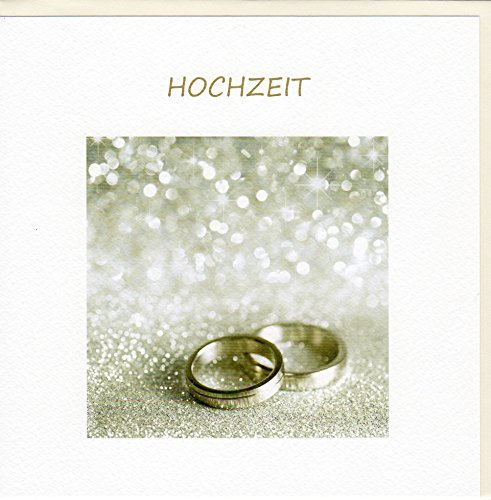 GOODmanCARDS Hochzeitskarte Ringe auf Silber