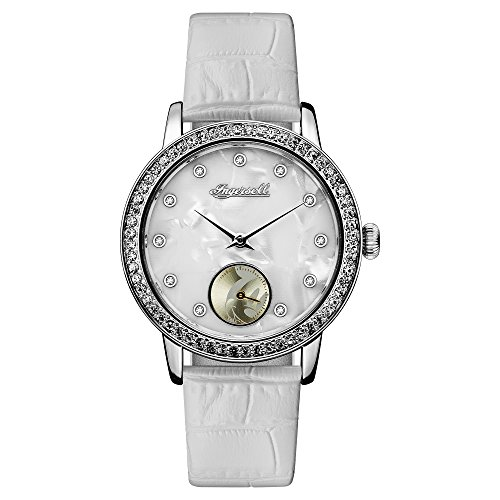 Ingersoll Disney Women's Union Quartz Watch with Mother of Pearl Dial and White Leather...