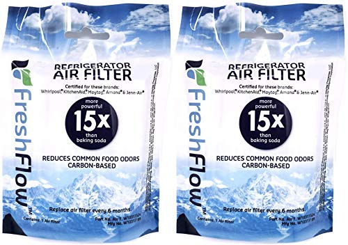 Fresh Flow W10311524 Air Filter Cartridge for Whirlpool Refrigerator's 2-Pack