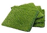 Kunstrasenteppich, 30,5 x 30,5 cm, Grün, 4 Stück