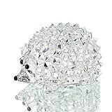 H&D coupe cristal clair hérisson Figurine animale Collection ornement en verre cadeaux de mariage