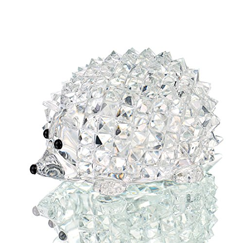 H&D HYALINE & DORA Cut Clear Crystal Hedgehog Animal Figurine Collection Glass Ornament Wedding Gifts