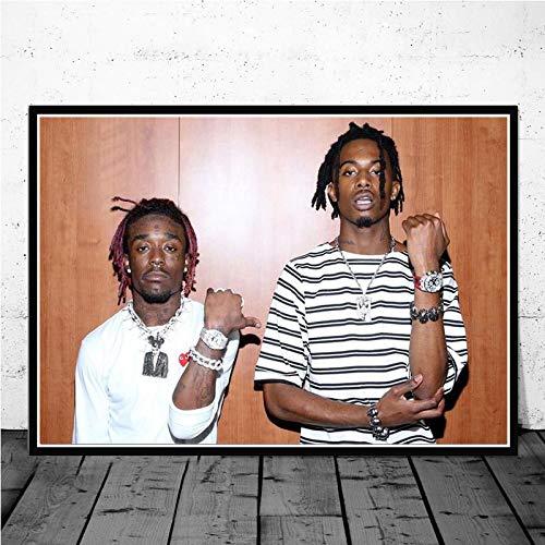 Yiwuyishi Hip Hop Music Star Lil Uzi Vert Lienzo Pintura Póster Bar Dormitorio Sala de Estar Sofá Arte de la Pared Decoración para el hogar Imagen 50x70cm P-1058