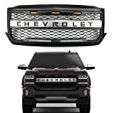 Front Bumper Grille For Chevy Silverado 1500 2016 2017 2018 LED Full Grill w/Letters