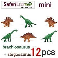 サファリ社ミニフィギュア 345522 ブラキオサウルス&ステゴサウルスセット