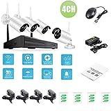 Febelle Sistema Seguridad CCTV inalámbrico Impermeable 4CH 1080p NVR 720P 960P 1080P cámara WiFi Kit IP Aire Libre Video Vigilancia visión Nocturna