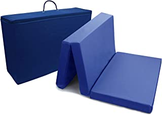 PEKITAS Colchón Cuna De Viaje Plegable 60x120 cm Grosor 6 cm - Funda de algodón lavable, transpirable, libre de toxicos,Color Azul Marino,Fabricado En España