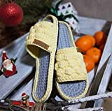JJZXLQ Zapatos de Bricolaje Ganchillo Hecho a Mano Hombres Mujeres Unisex Zapatillas, Zapatillas de casa de Ganchillo para Mujer, Zapatillas De Casa De Color Clásico Zapatillas,d,37