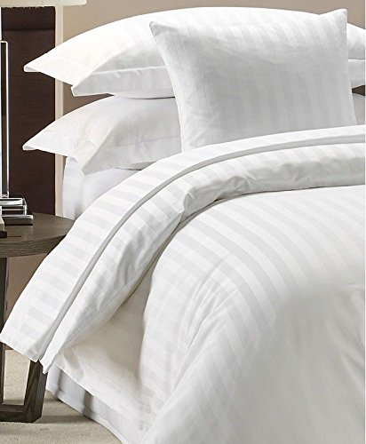 Highliving Duvet Cover Set 300 Thread Count White 100% Egyptian cotton Hotel Quality (Super King)