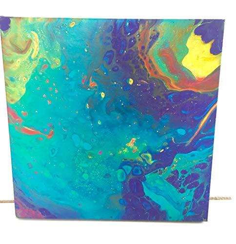 Bild auf Leinwand, Acrylgießtechnik, selbstgemalt, Unikat, Einzelstück, Kunstwerk, bunt, Deko, Wanddeko