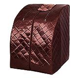 Giantex Portable Steam Sauna Spa 2L Folding Private Sauna Tent W/Chair Foot, Massage Roller,...