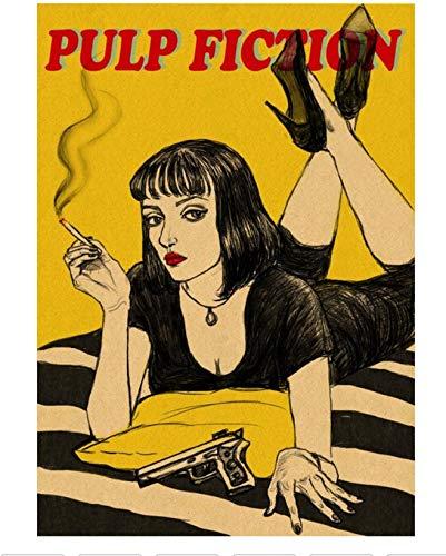 Pulp Fiction, Carteles de cine, Carteles de papel Kraft, Vinilos decorativos, Carteles antiguos, Pinturas decorativas, Carteles de pintura 42X30Cm