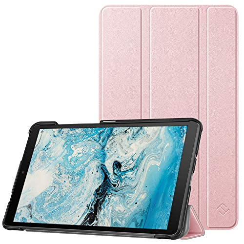 Fintie SlimShell Funda Compatible con Lenovo Tab M8/Smart Tab M8/Tab M8 FHD - Súper Delgada y Ligera Carcasa con Función de Soporte, Oro Rosa