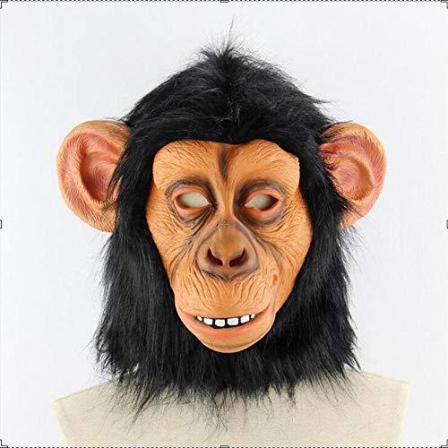 XWYZY Mscara de Halloween de ltex aterrador mscara de Halloween de Orangutan Monkey Cosplay cara completa terror Mascarada Adulto Divertido Bar Vestir Mscara de Fiesta Accesorios Decoracin AsPic